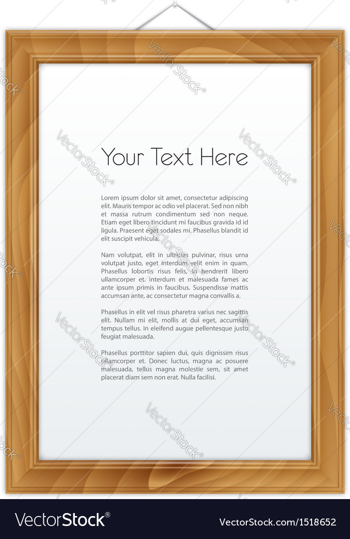 Wooden frame isolated on white vector | Price: 1 Credit (USD $1)