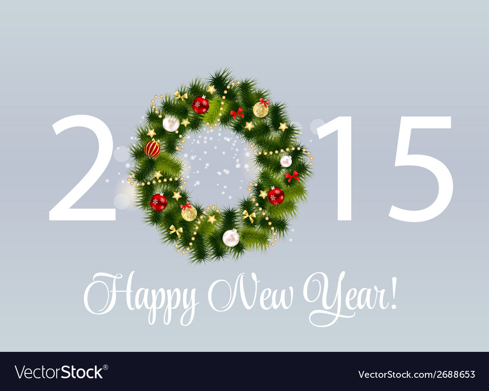 Abstract beauty 2015 new year background vector | Price: 1 Credit (USD $1)