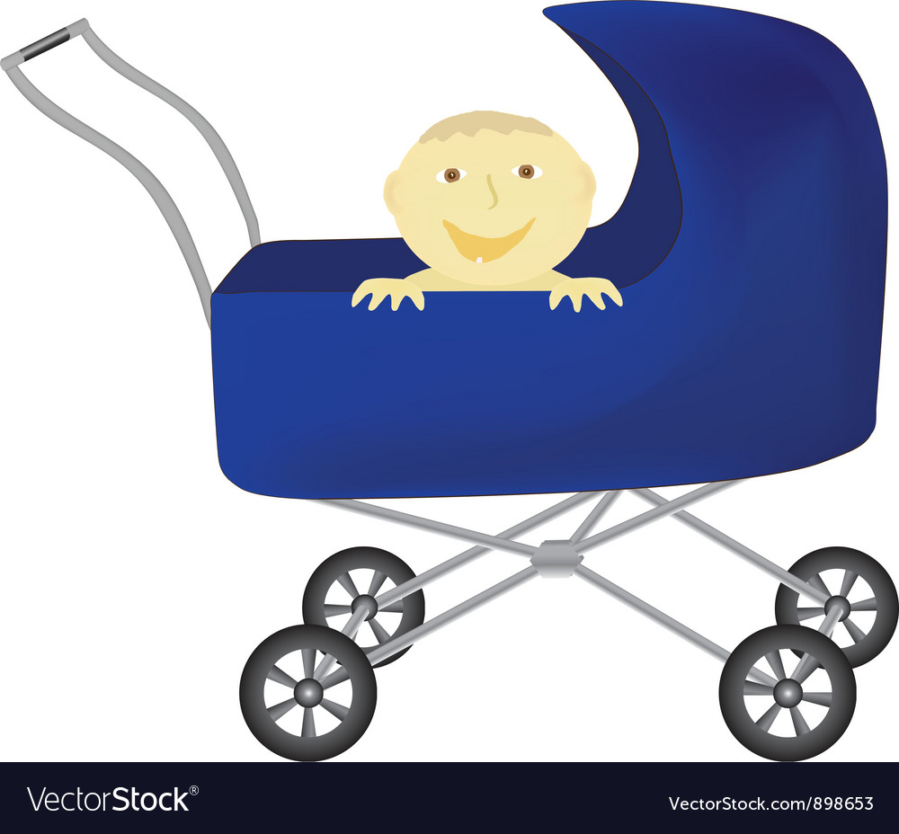 Baby in perambulator vector | Price: 1 Credit (USD $1)