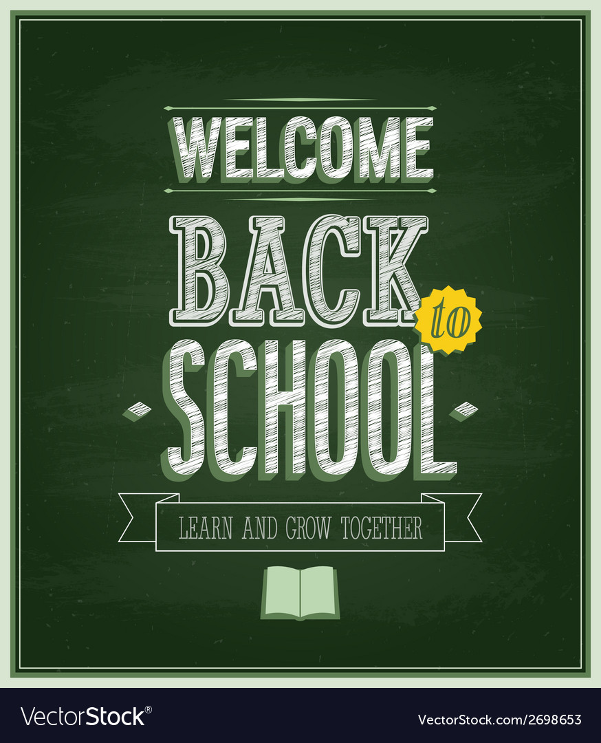 Back to school - chalkboard vector | Price: 1 Credit (USD $1)