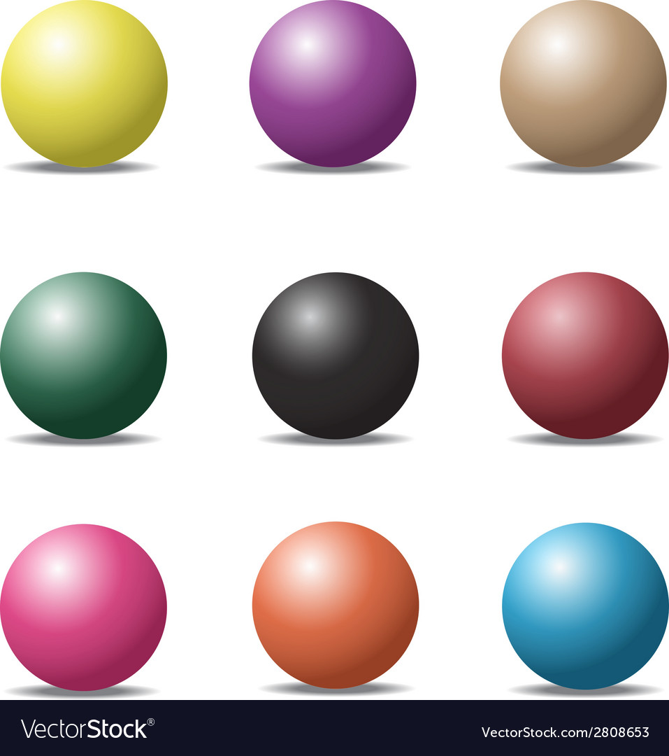 Ball set 1 vector | Price: 1 Credit (USD $1)
