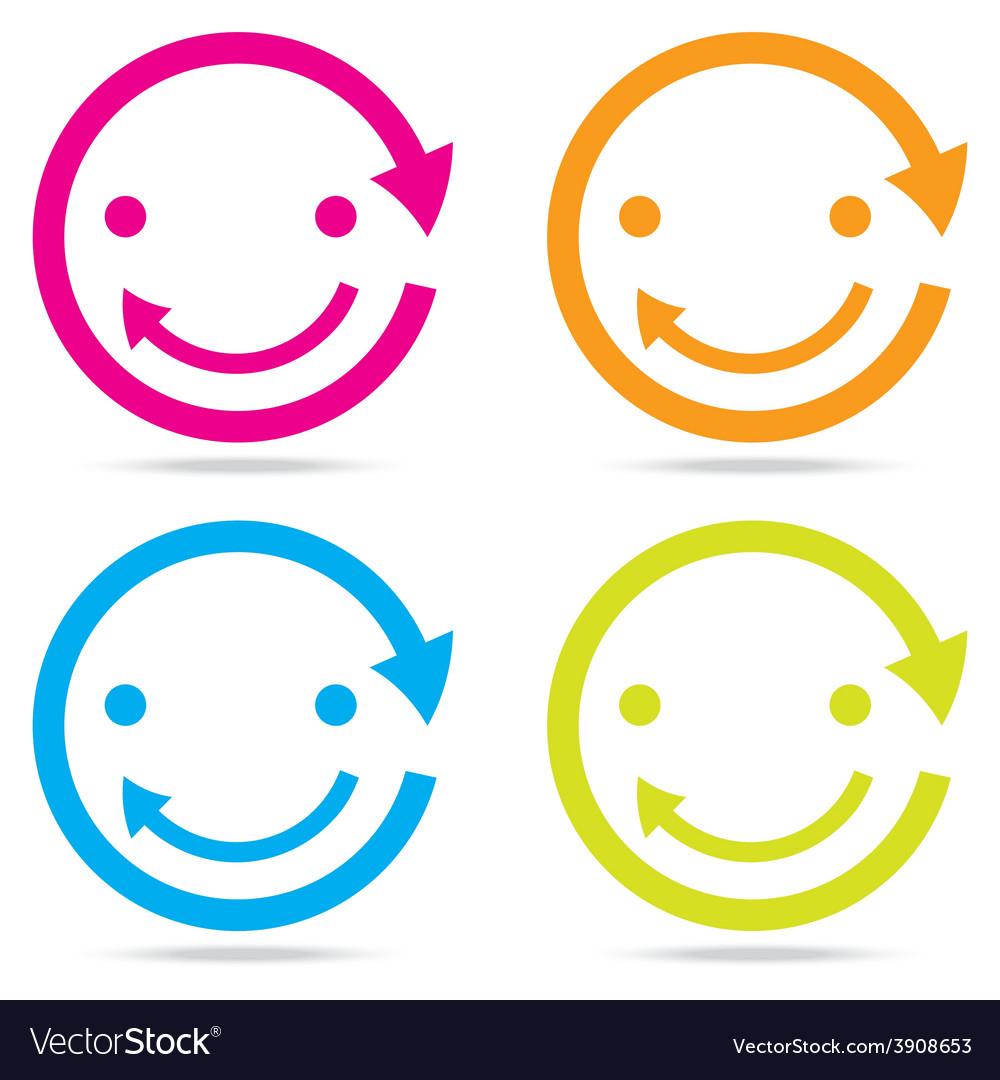 Beautiful popular smile happy arrow vector   Price: 1 Credit (USD $1)