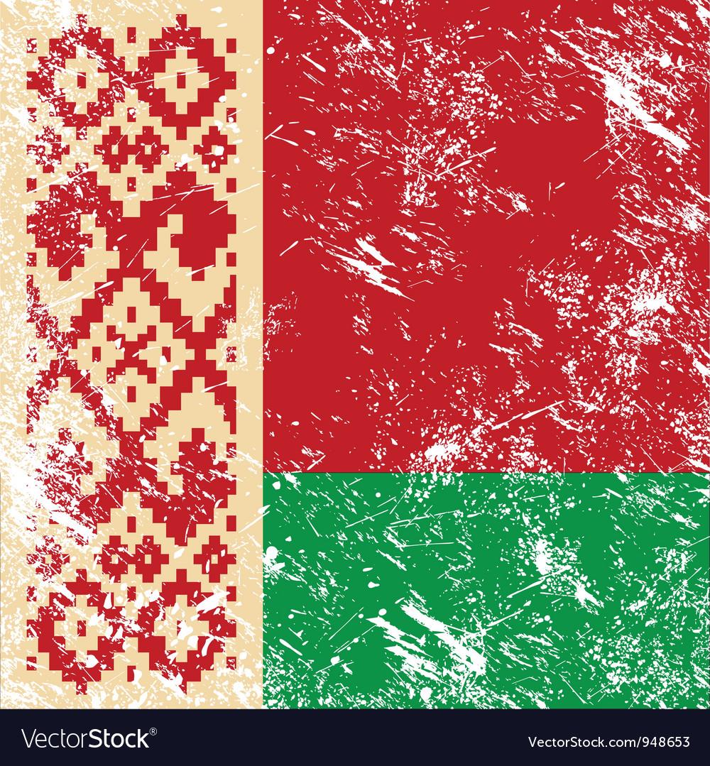 Belarus retro flag vector | Price: 1 Credit (USD $1)