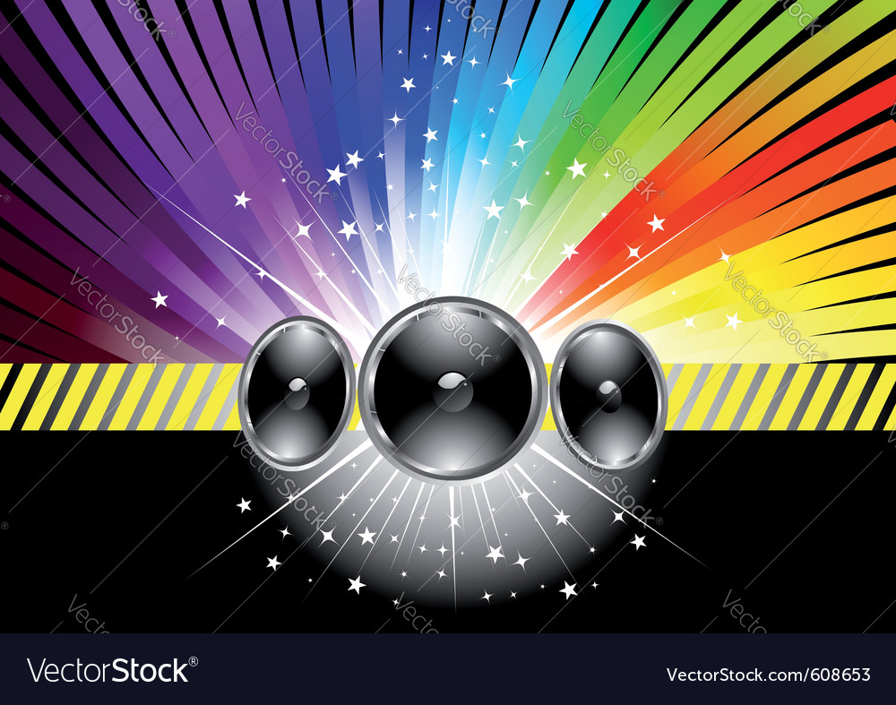 Discotheque banner template with rainbow vector | Price: 1 Credit (USD $1)