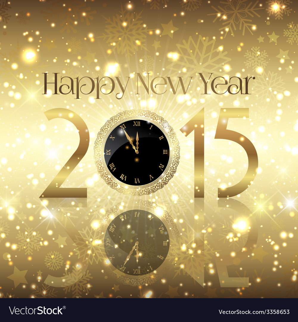 Golden happy new year background vector | Price: 1 Credit (USD $1)