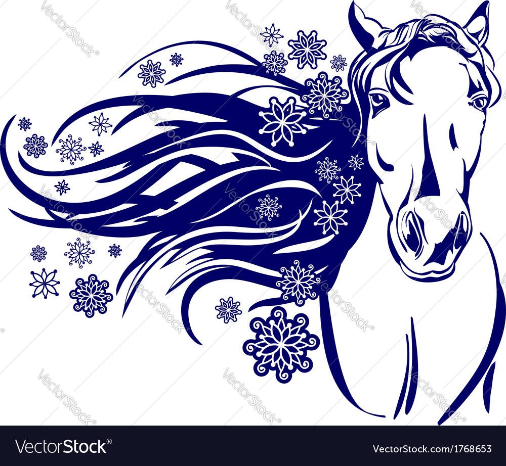 Head of horse cartoon vector | Price: 1 Credit (USD $1)