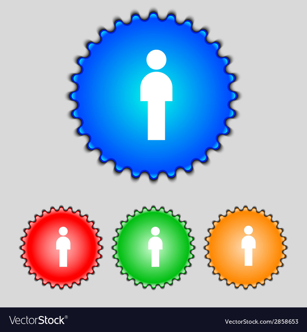 Human sign icon man person symbol male toilet set vector | Price: 1 Credit (USD $1)