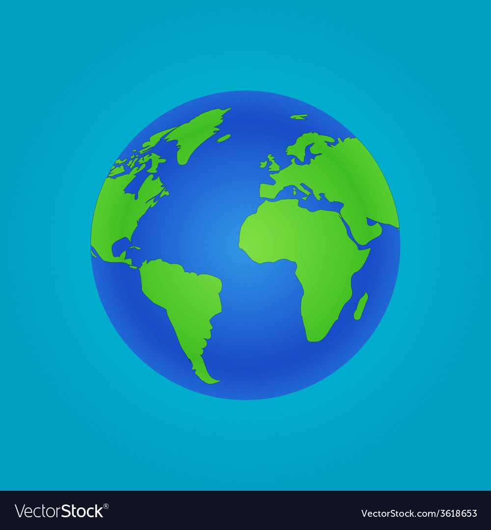Isolated globe icon and green map vector | Price: 1 Credit (USD $1)