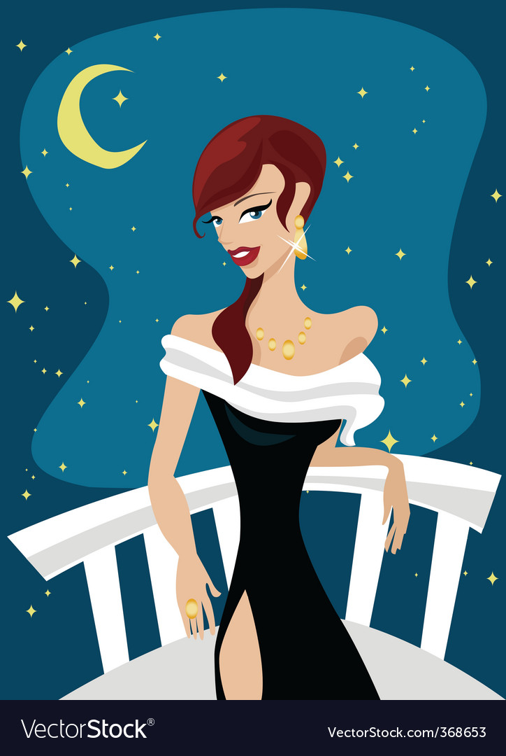 Redhead woman vector | Price: 3 Credit (USD $3)