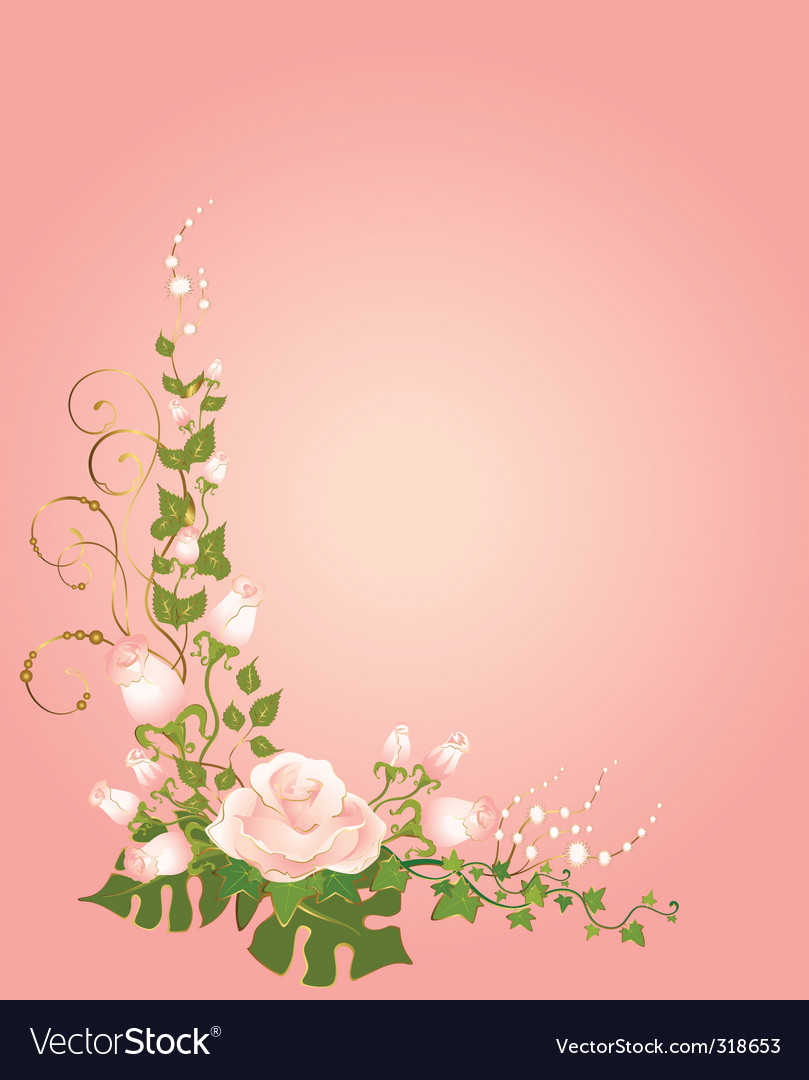 Roses border vector | Price: 1 Credit (USD $1)