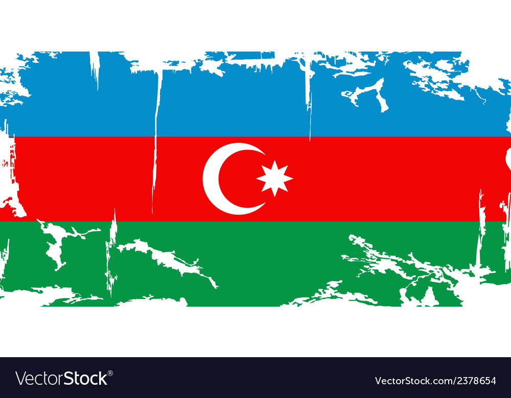 Azerbaijan grunge flag vector | Price: 1 Credit (USD $1)