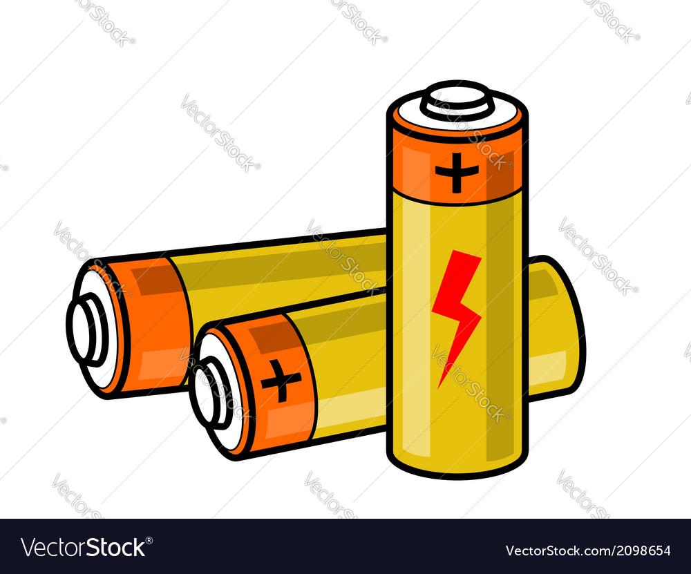 Batteries icon vector | Price: 1 Credit (USD $1)