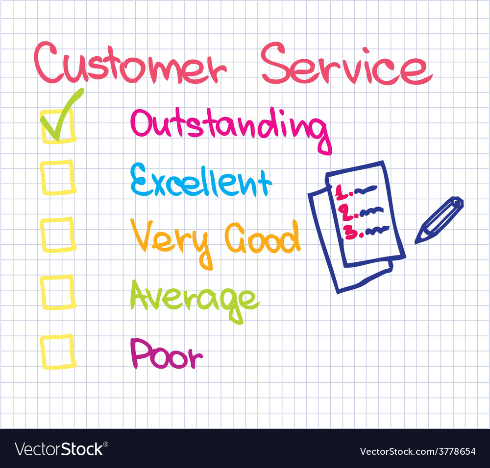 Customer service ranking vector | Price: 1 Credit (USD $1)