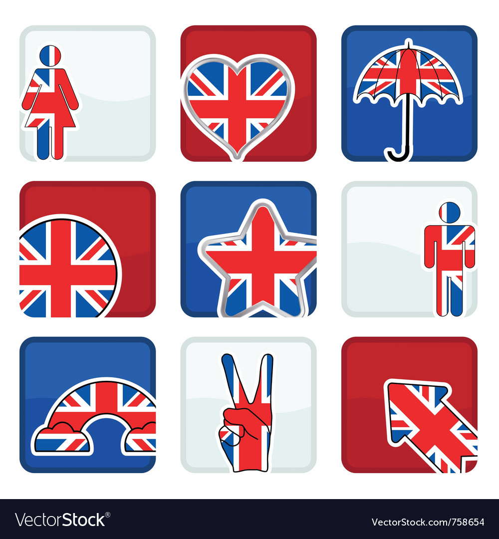 Great britain icons vector | Price: 1 Credit (USD $1)