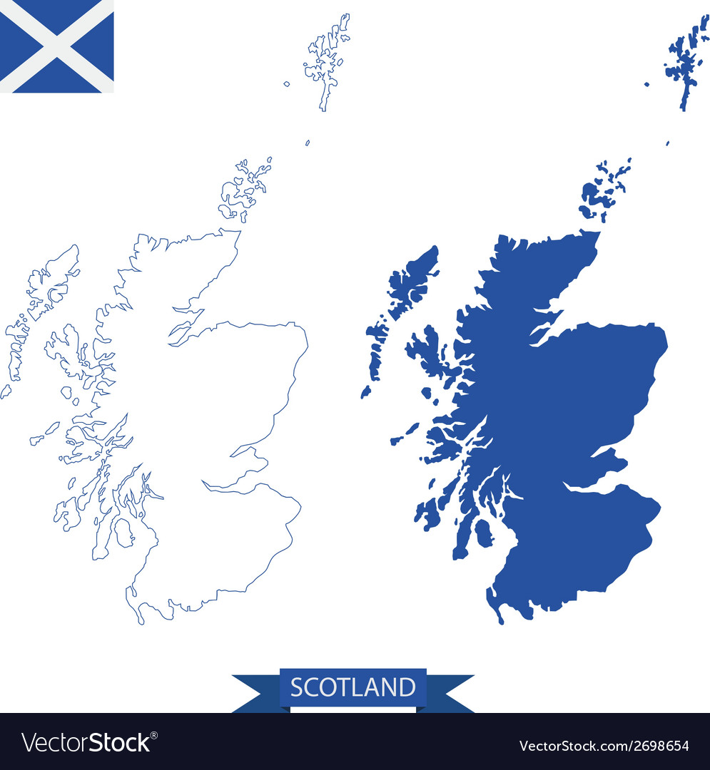 Map of scotland vector