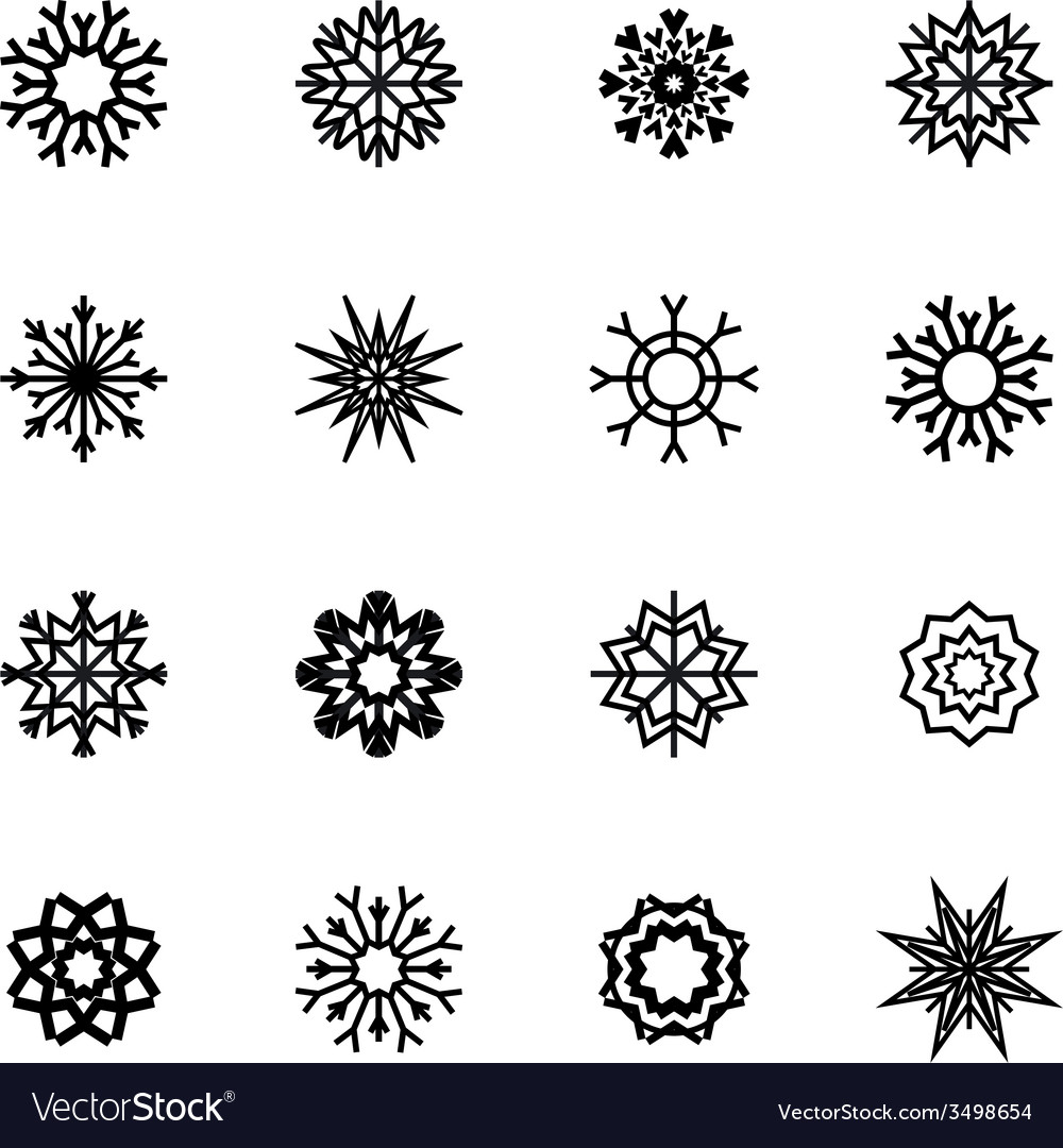 Snowflakes set winter and christmas theme  eps10 vector | Price: 1 Credit (USD $1)