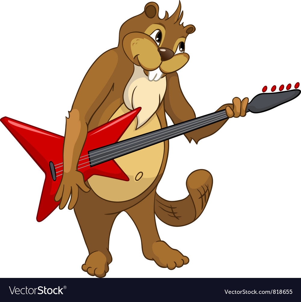 Beaver rocker vector | Price: 3 Credit (USD $3)