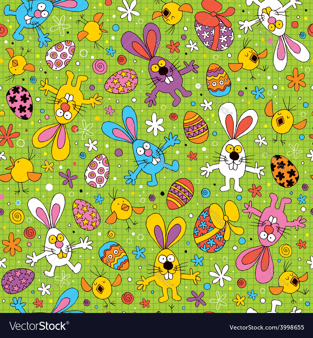 Easter pattern 3 vector | Price: 1 Credit (USD $1)