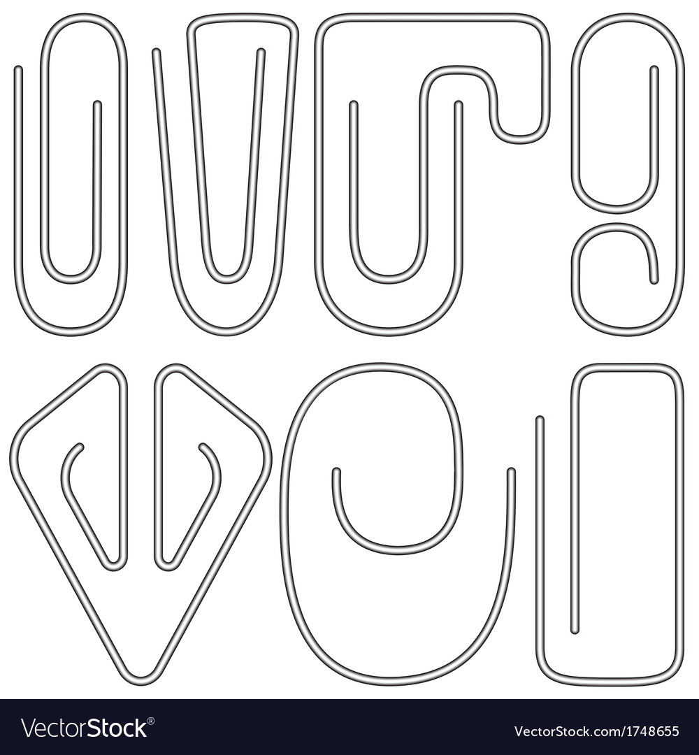 Paperclips vector | Price: 1 Credit (USD $1)