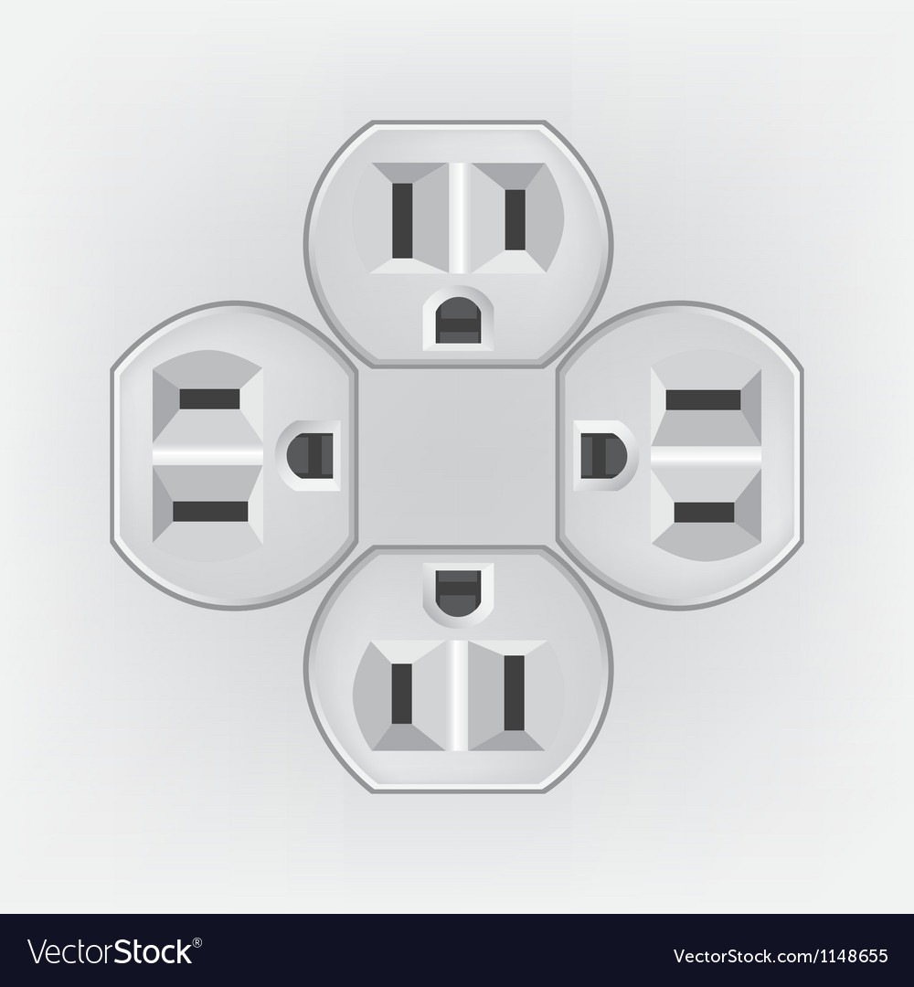 Plug socket faces vector | Price: 1 Credit (USD $1)