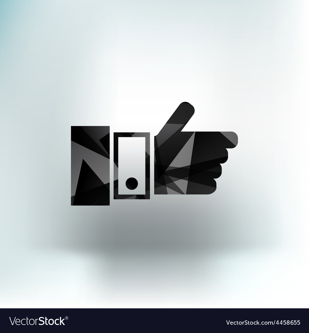 Pointing hand icon hand finger pointer touch vector | Price: 1 Credit (USD $1)