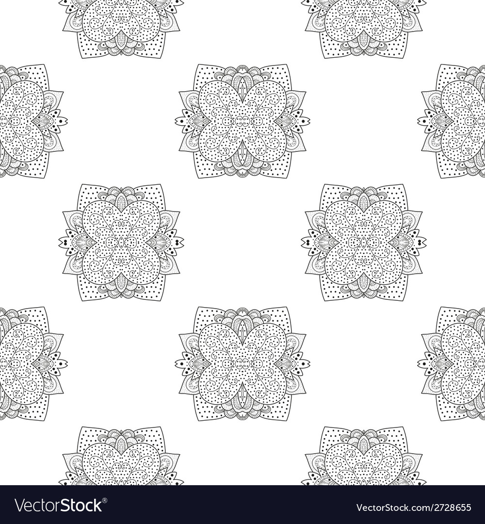 Seamless pattern with round lace pattern vector | Price: 1 Credit (USD $1)