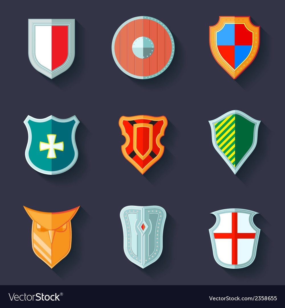 Shield icon flat vector | Price: 1 Credit (USD $1)
