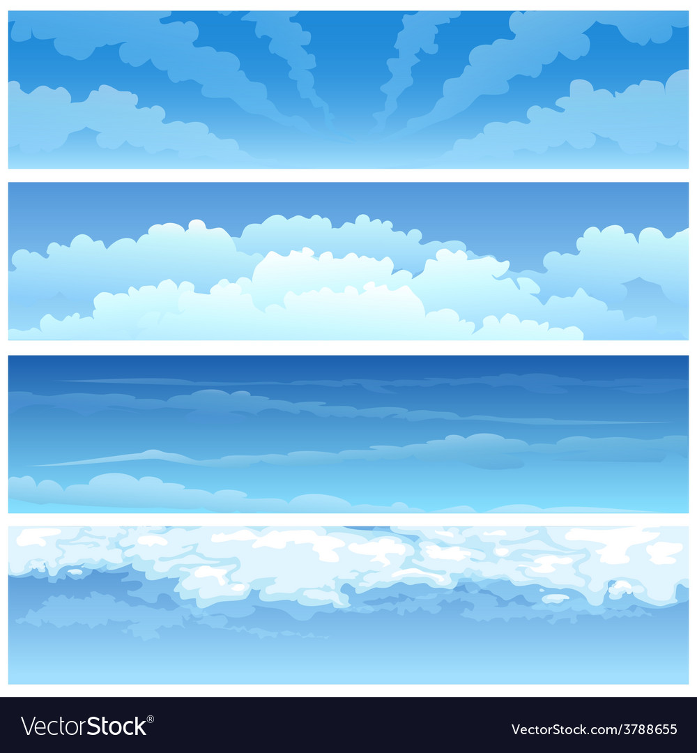 Skyscape set vector | Price: 1 Credit (USD $1)
