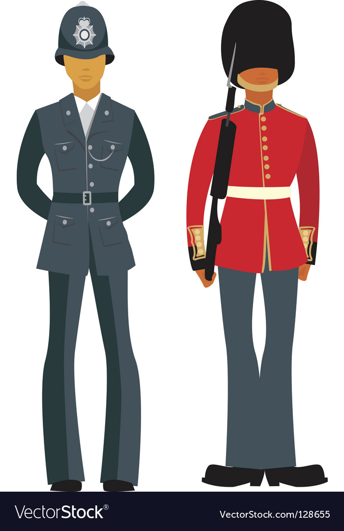Traditional british officers vector