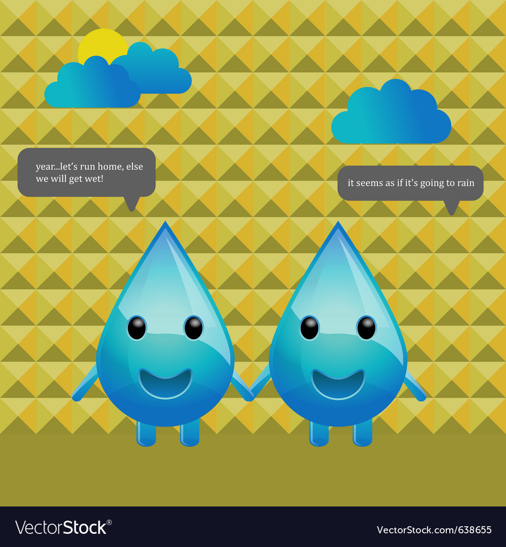 Water drops conversation vector | Price: 3 Credit (USD $3)