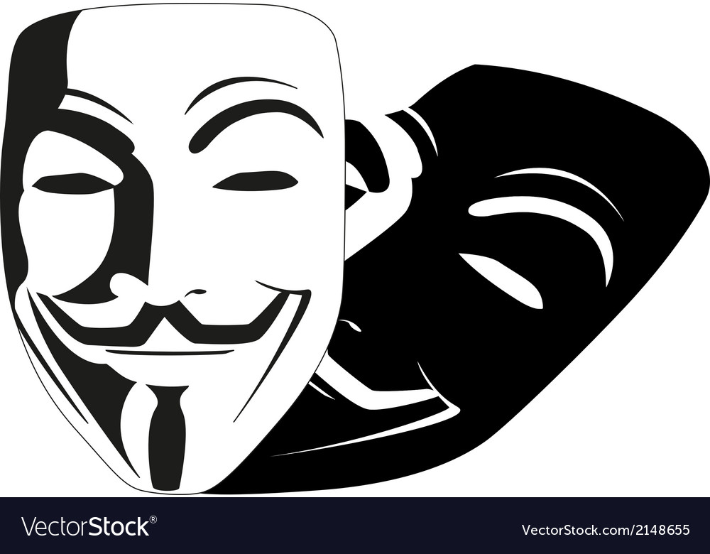 White mask anonymous vector   Price: 1 Credit (USD $1)