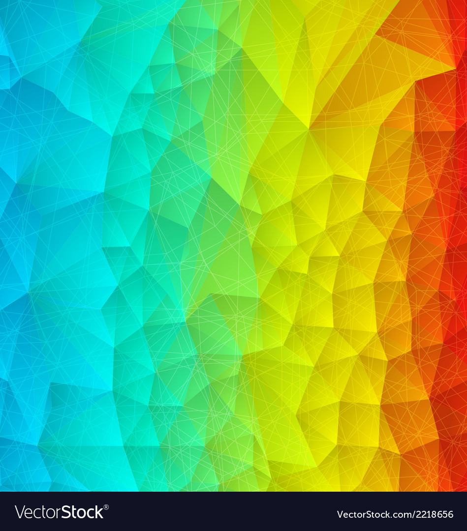 Abstract rainbow polygonal vector | Price: 1 Credit (USD $1)