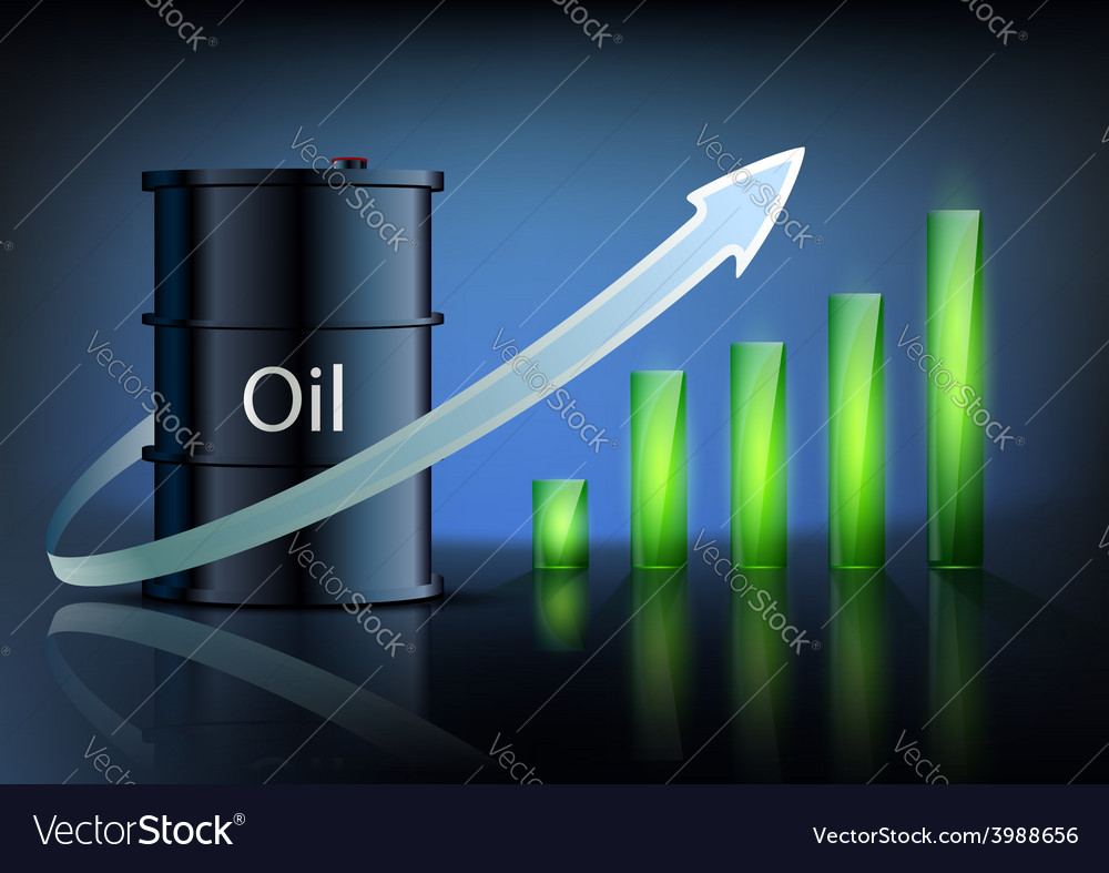 Barrel of oil and business graph vector | Price: 1 Credit (USD $1)
