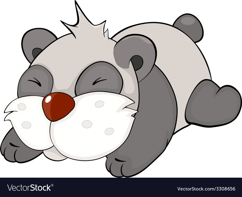Bear panda cartoon vector | Price: 1 Credit (USD $1)