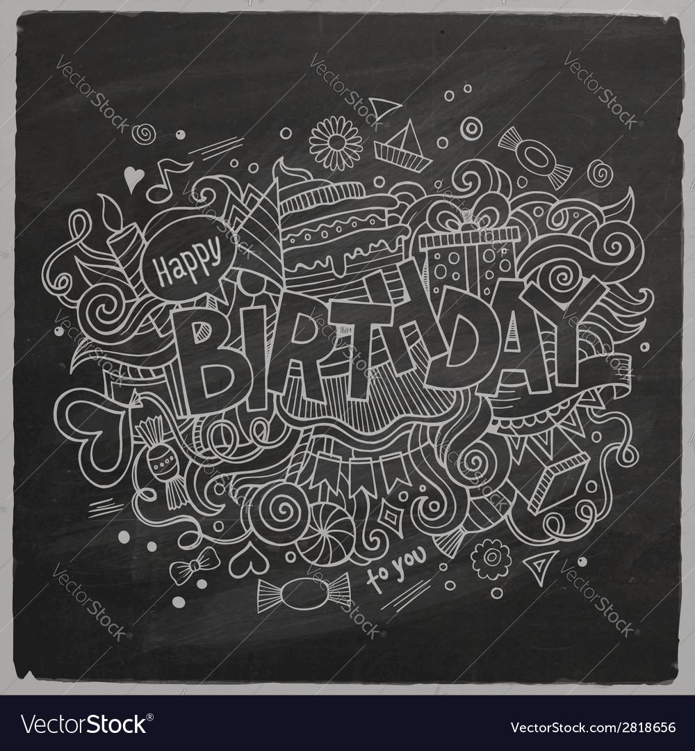 Birthday chalkboard background vector | Price: 1 Credit (USD $1)