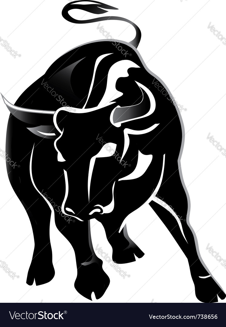 Black bull vector | Price: 1 Credit (USD $1)