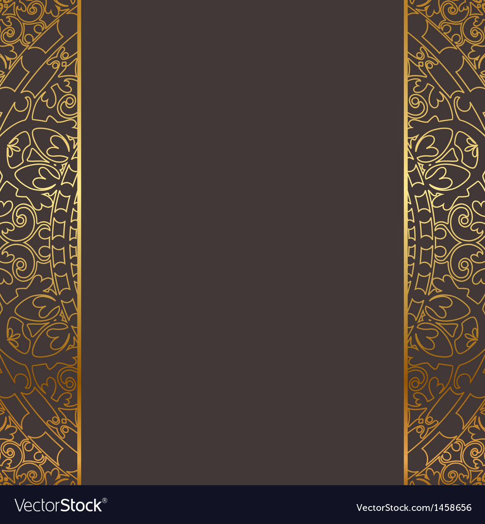 Brown and gold frame vector | Price: 1 Credit (USD $1)