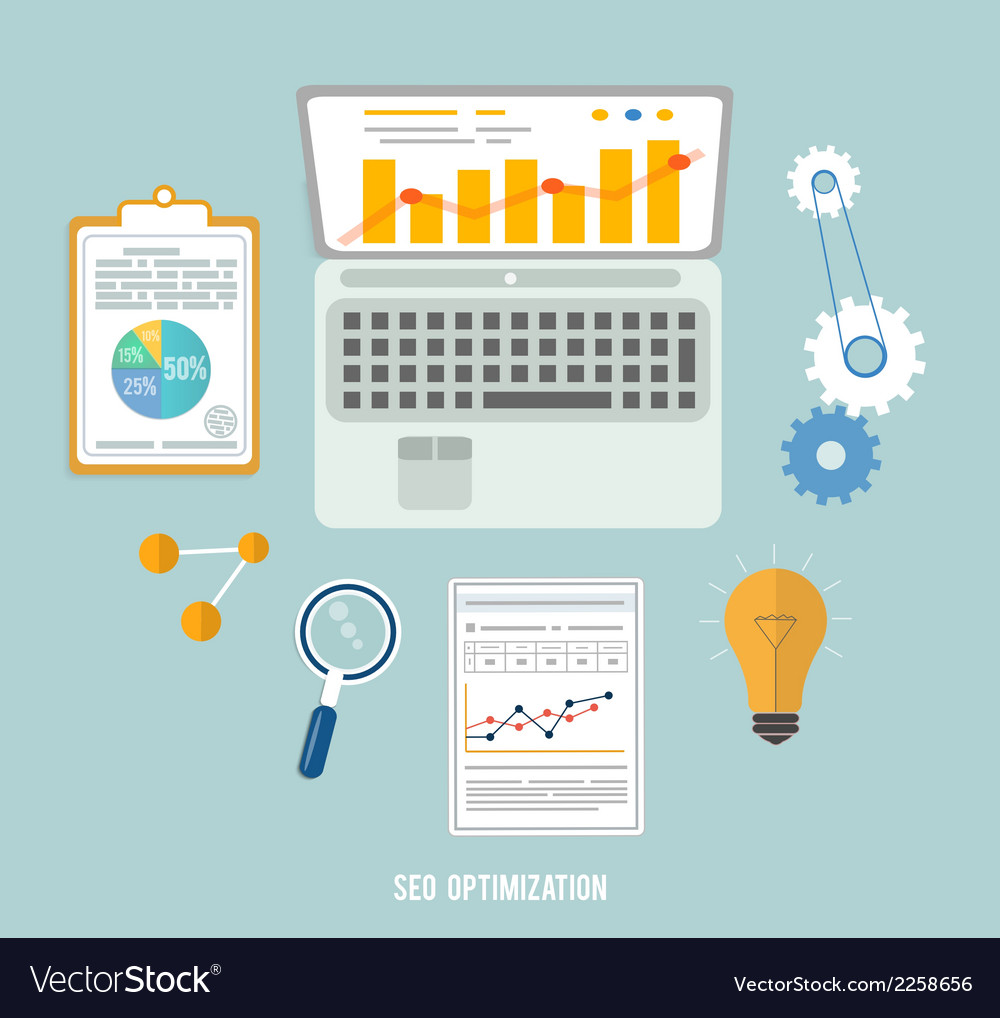 Business seo and education items icons vector | Price: 1 Credit (USD $1)