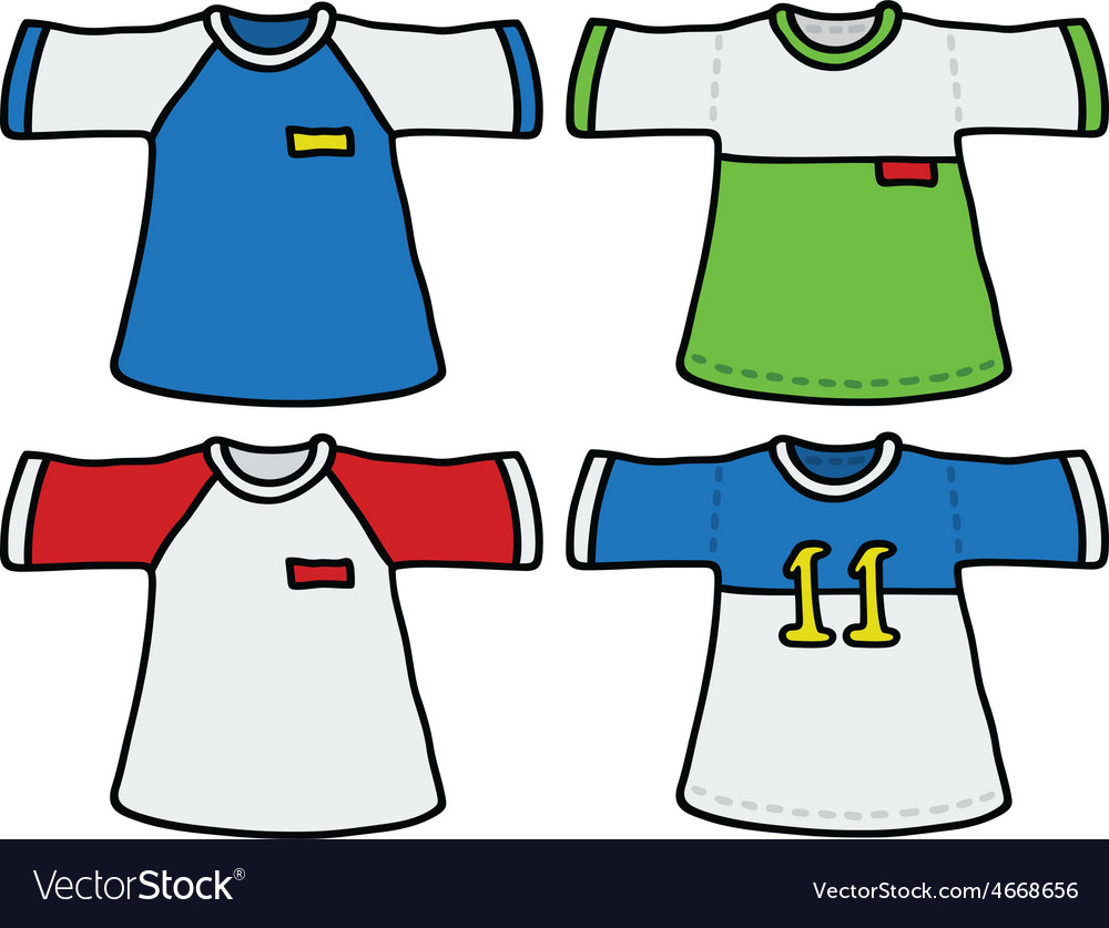 Color sports shirts vector | Price: 1 Credit (USD $1)