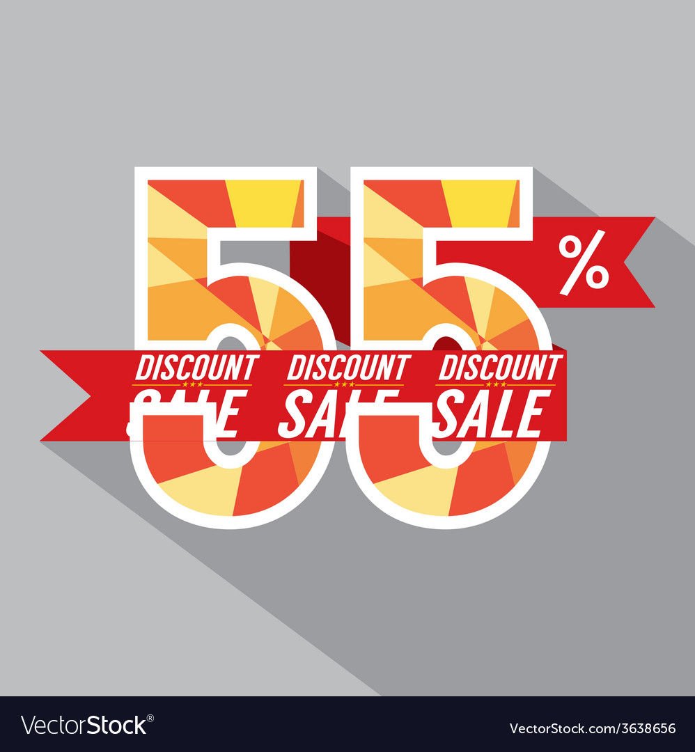 Discount 55 percent off vector | Price: 1 Credit (USD $1)