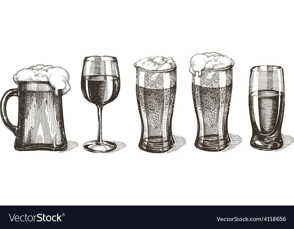 Drinks logo design template glasses or vector | Price: 3 Credit (USD $3)