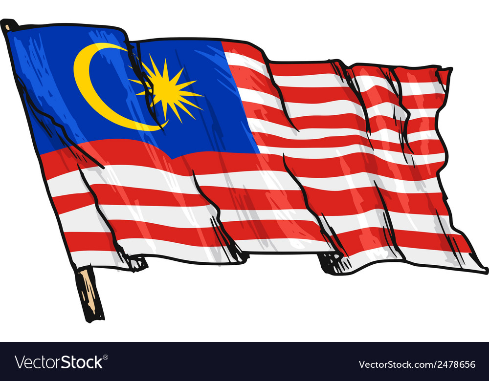Flag of malaysia vector | Price: 1 Credit (USD $1)