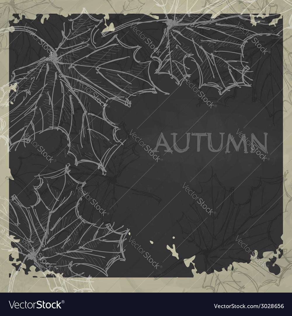 Hand drawn autumn background vector | Price: 1 Credit (USD $1)