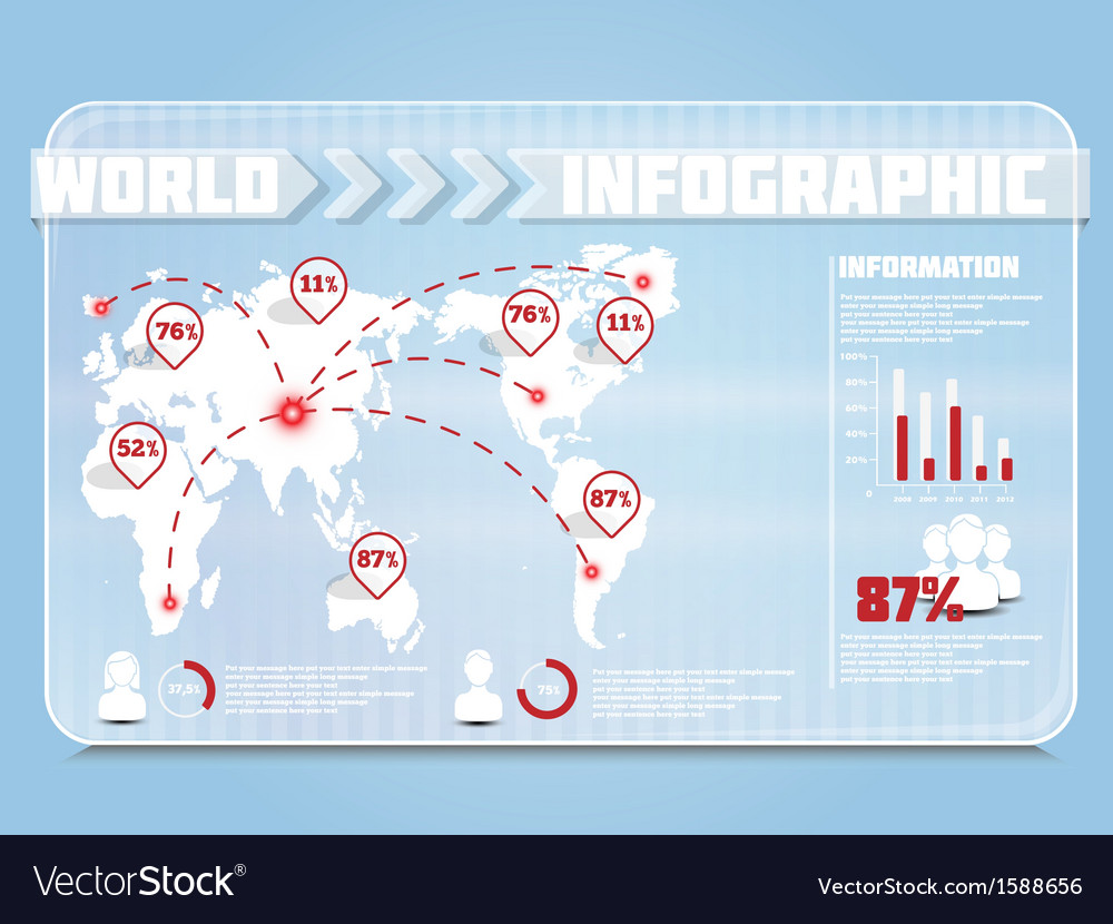 Infographic demograpich transparent vector | Price: 1 Credit (USD $1)
