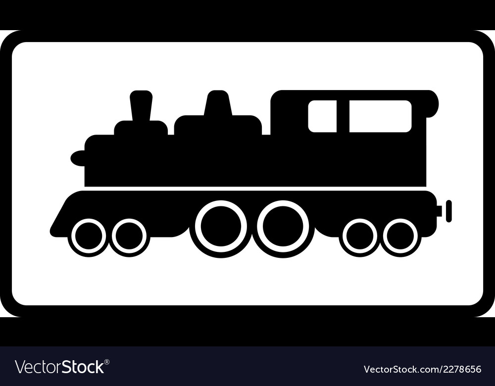 Isolated black train vector | Price: 1 Credit (USD $1)