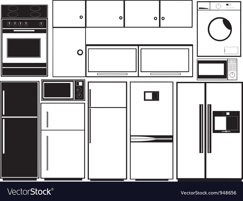 Kitchen electronics vector | Price: 1 Credit (USD $1)