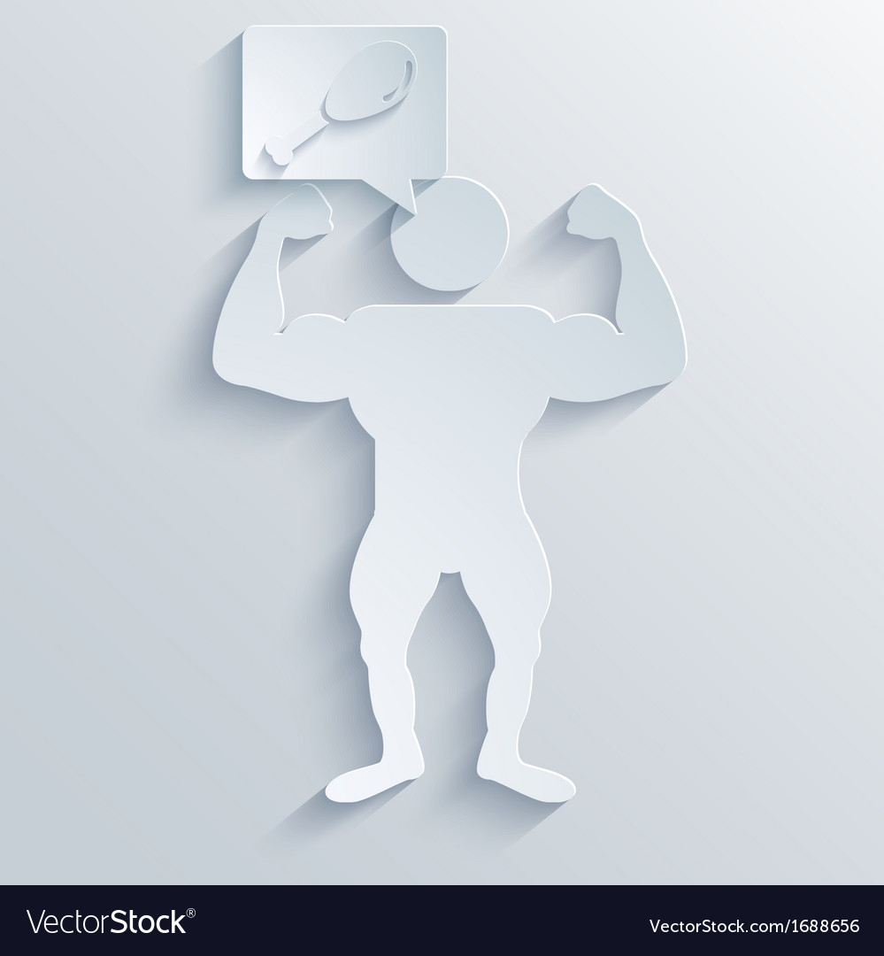 Muscled body background eps10 vector | Price: 1 Credit (USD $1)