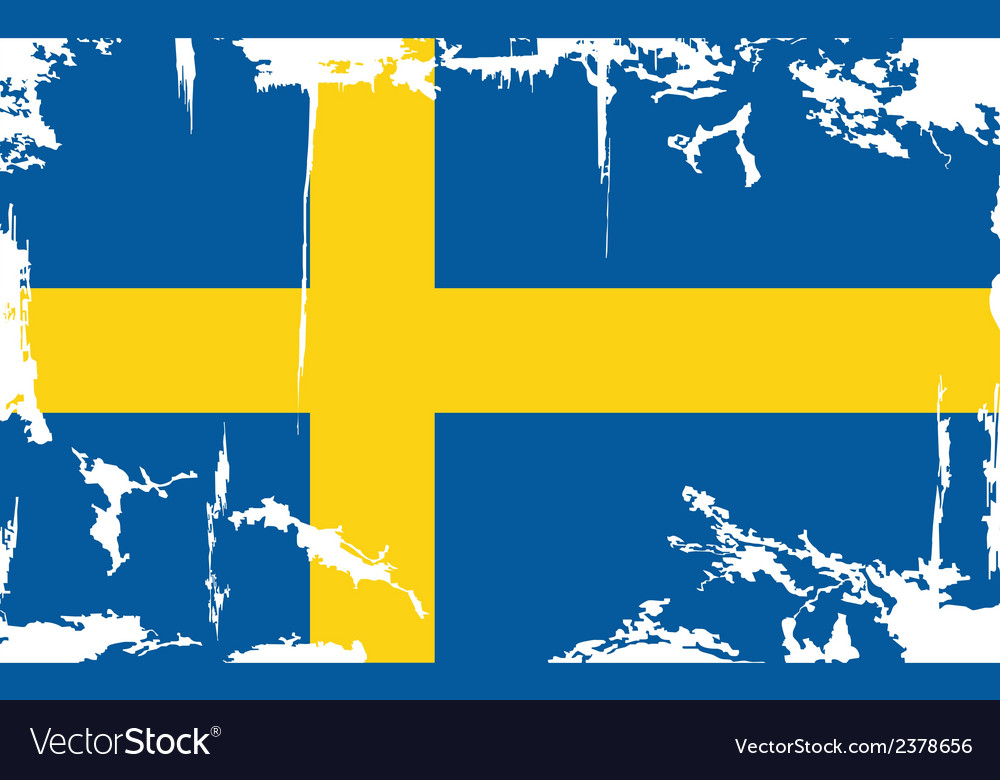 Swedish grunge flag vector | Price: 1 Credit (USD $1)