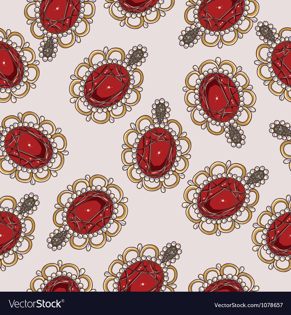 Beautiful seamless pattern with fashion jewelry vector | Price: 1 Credit (USD $1)