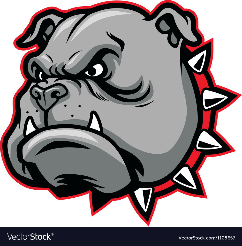 Bulldog head mascot vector | Price: 1 Credit (USD $1)